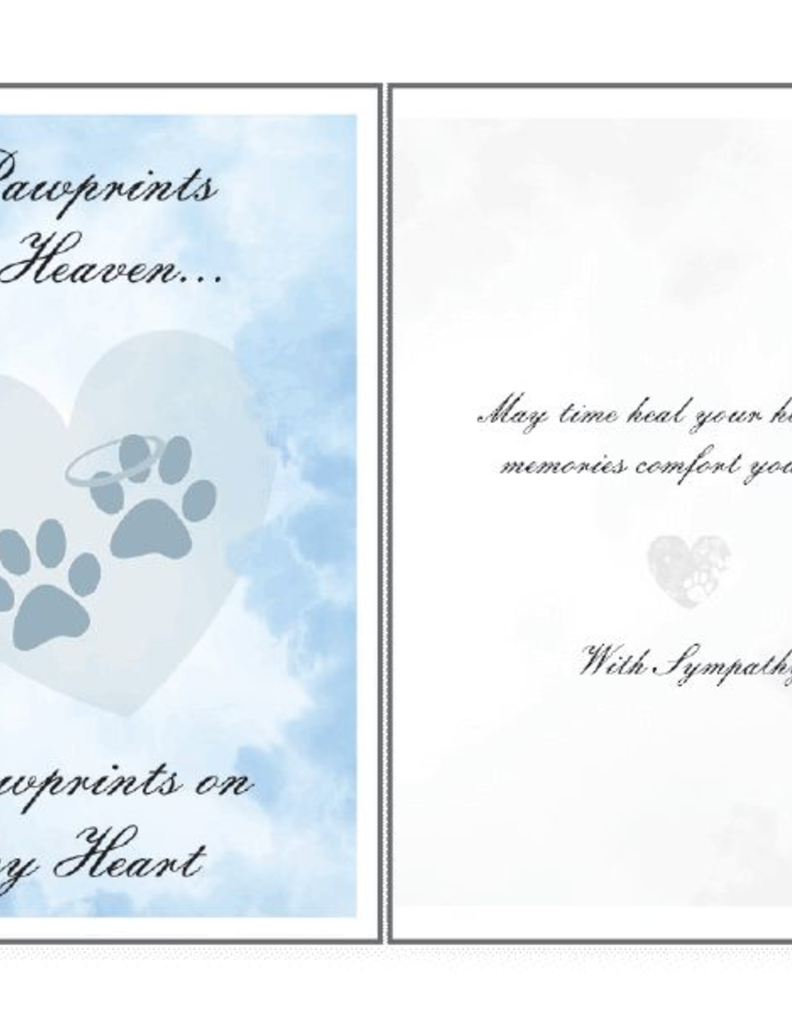 Dog Speak Dog Speak Card - Sympathy - Pawprints In Heaven, Pawprints on my Heart