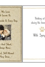 Dog Speak Dog Speak Card - Sympathy - Those We Love Do Not Leave Us