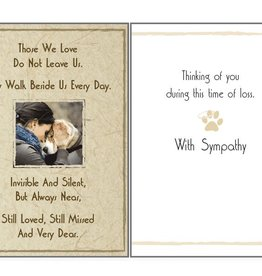 Dog Speak Dog Speak Card - Sympathy - Those We Love Do Not Leave Us