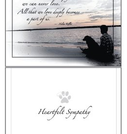 Dog Speak Dog Speak Card - Sympathy - What We Have Once Enjoyed, We Can Never Lose