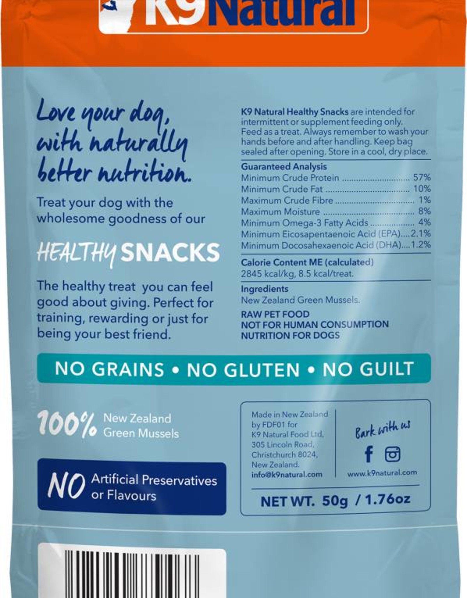 K9 Natural K9 Natural Green Lipped Mussel Healthy Snacks