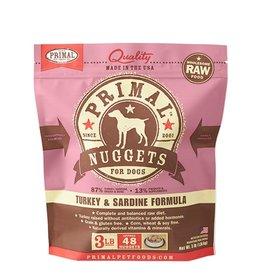 Primal Pet Food Primal Canine Raw Frozen Turkey & Sardine