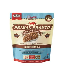 Primal Pet Food Primal Feline Raw Frozen Pronto Rabbit 1lb