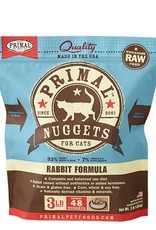 Primal Pet Food Primal Feline Raw Frozen Rabbit Formula 3lb