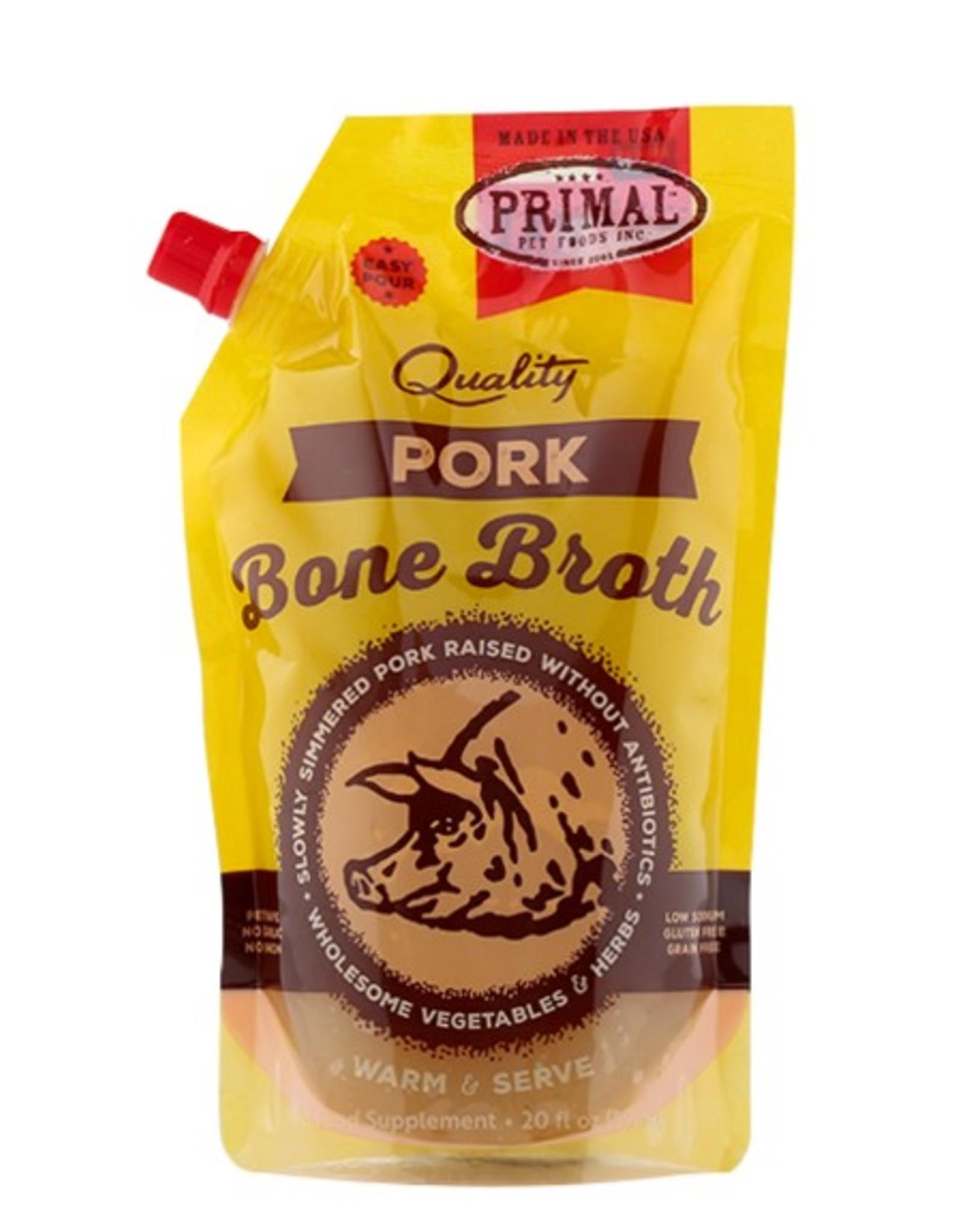 Primal Pet Food Primal Frozen Pork Bone Broth 20oz