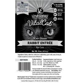 Vital Essentials Vital Essentials Cat Frozen Rabbit Tub 14oz