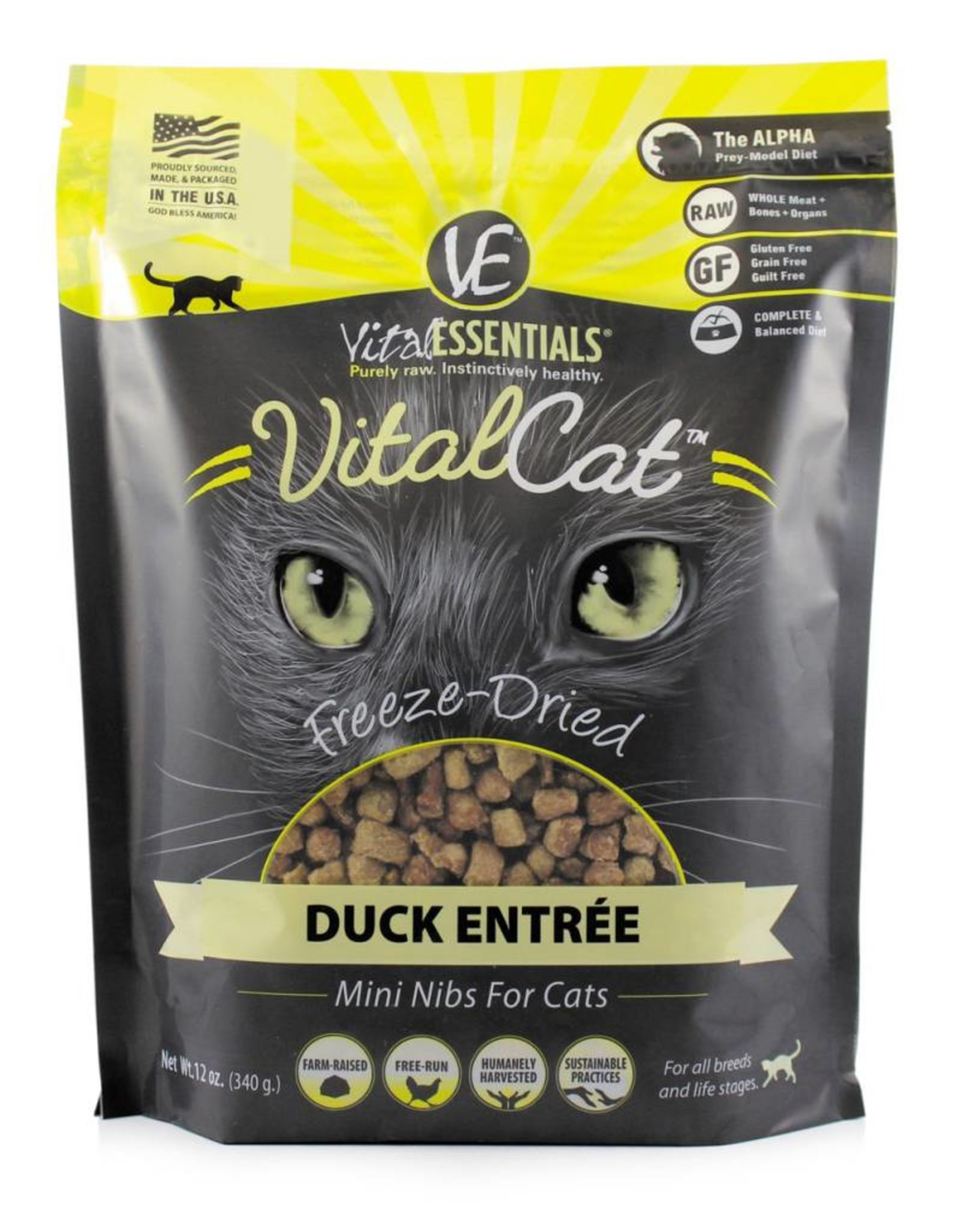 Vital Essentials Vital Essentials Cat Freeze-Dried Duck Mini Nibs 12oz