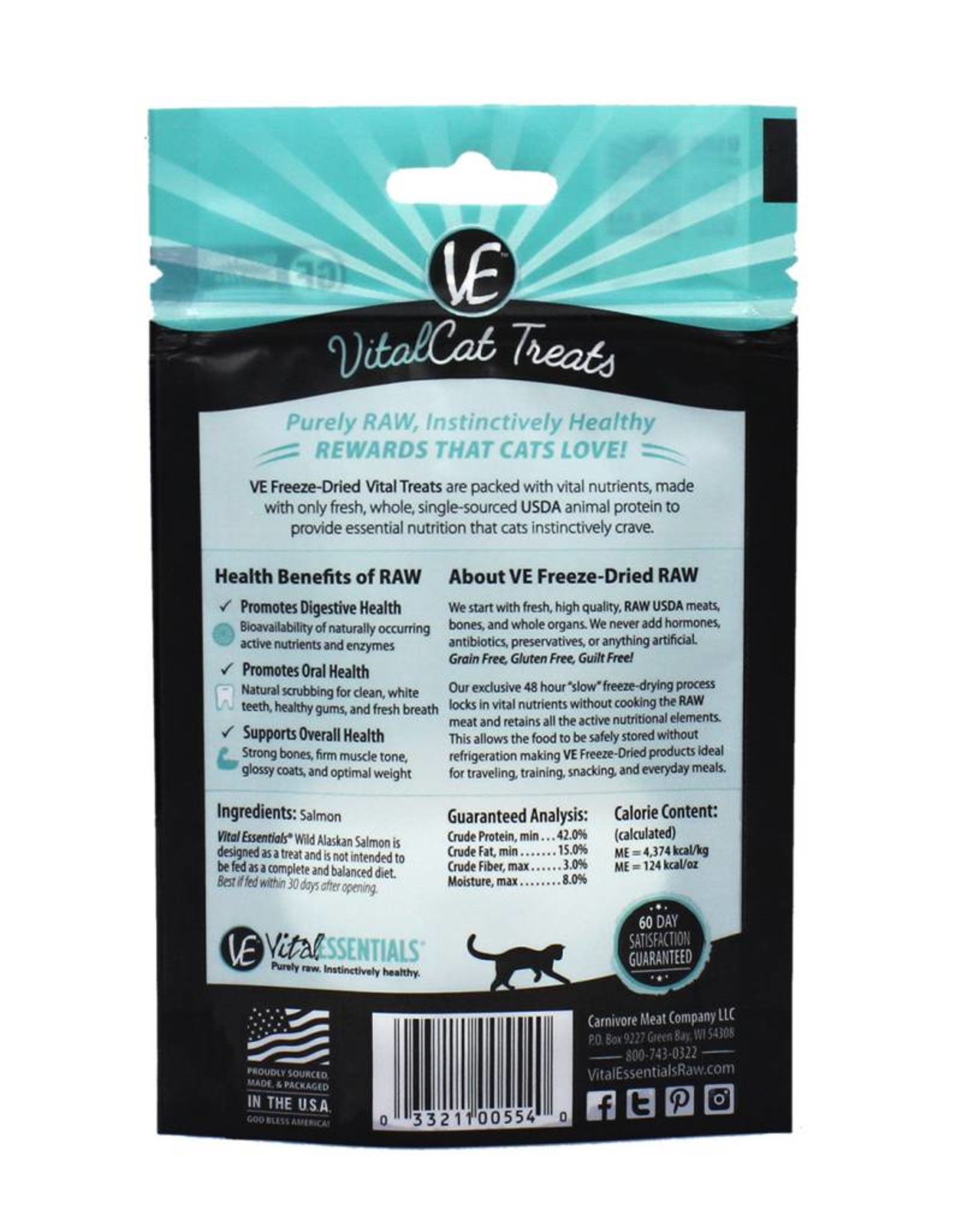 Vital Essentials Vital Essentials Cat Treats Wild Alaskan Salmon