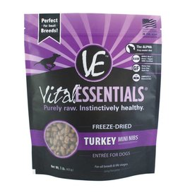 Vital Essentials Vital Essentials Dog Freeze-Dried Turkey Mini Nibs 1lb