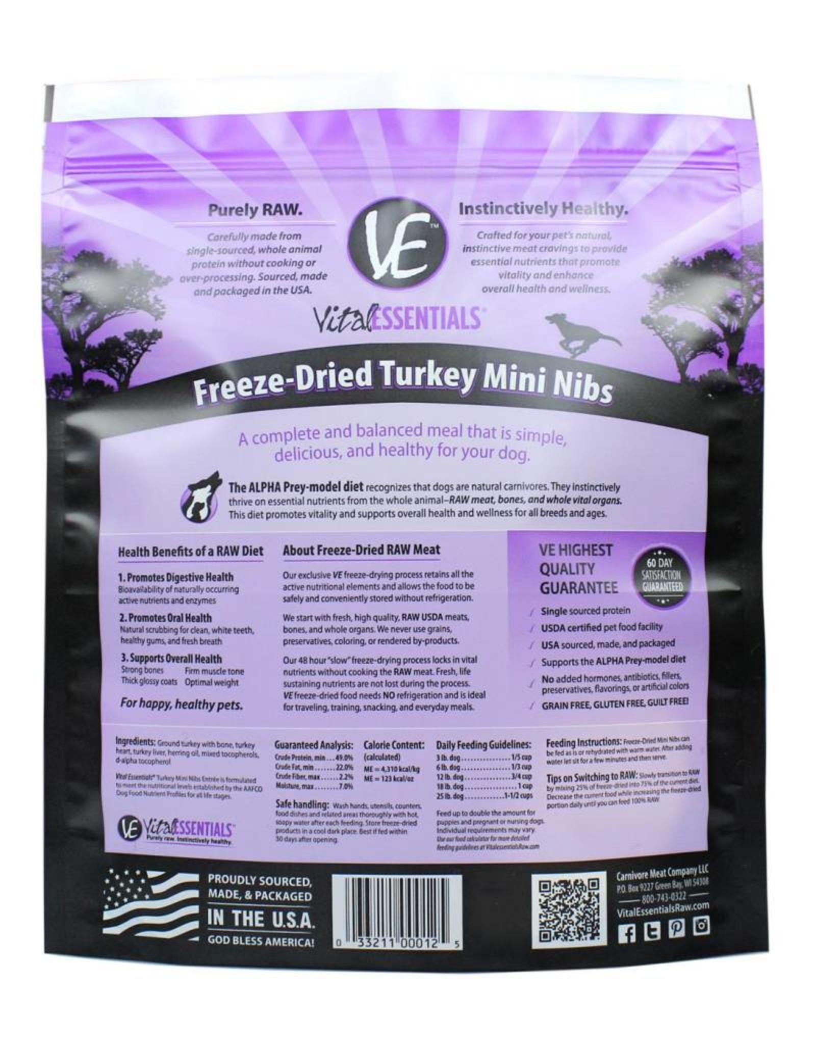 Vital Essentials Vital Essentials Dog Freeze-Dried Turkey Mini Nibs 1lb