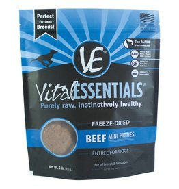 Vital Essentials Vital Essentials Dog Freeze-Dried Beef Mini Patties 1lb