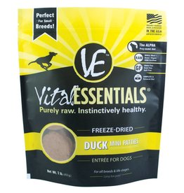 Vital Essentials Vital Essentials Dog Freeze-Dried Duck Mini Patties 1lb