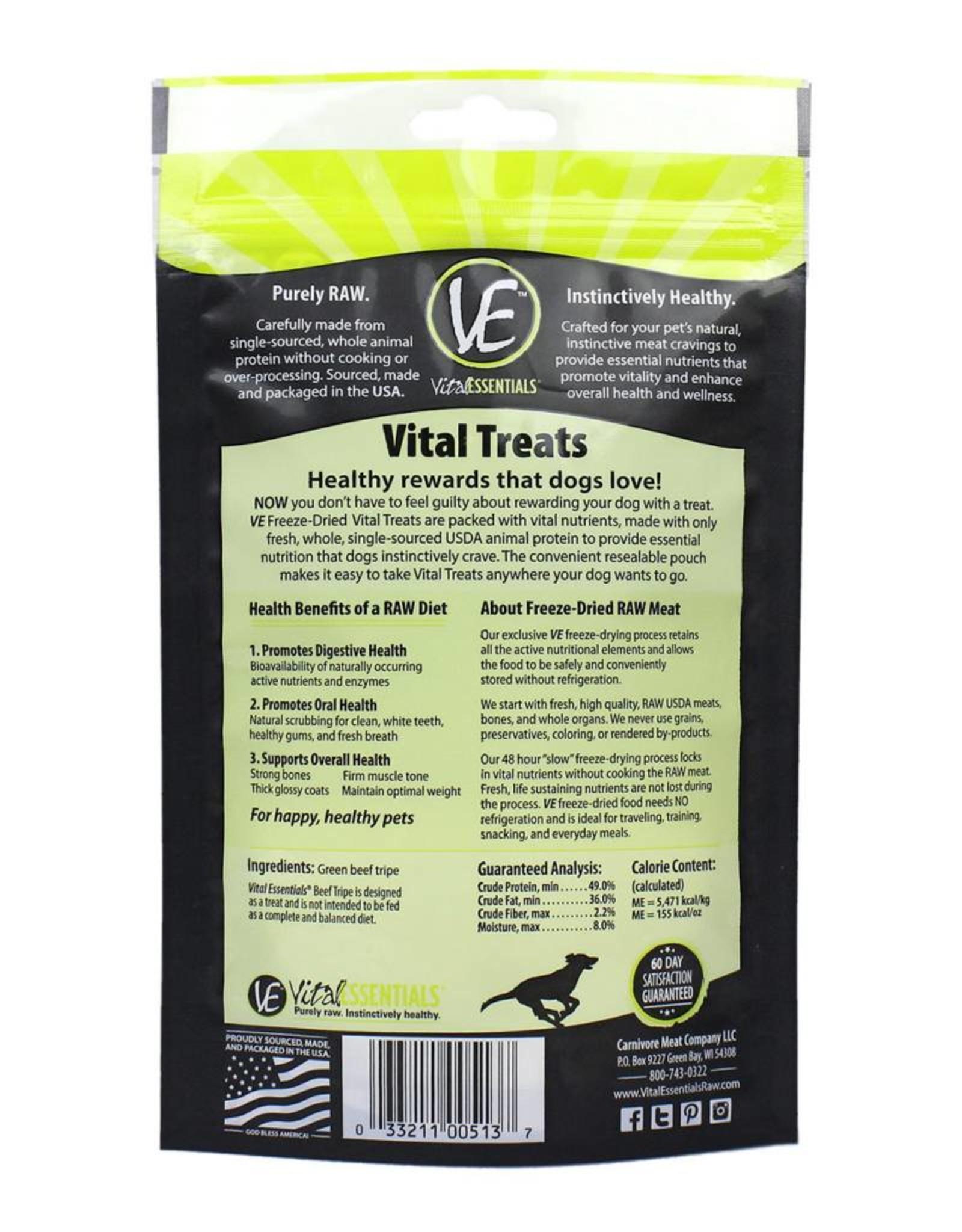 Vital Essentials Vital Essentials Dog Treat Beef Tripe 2.3oz