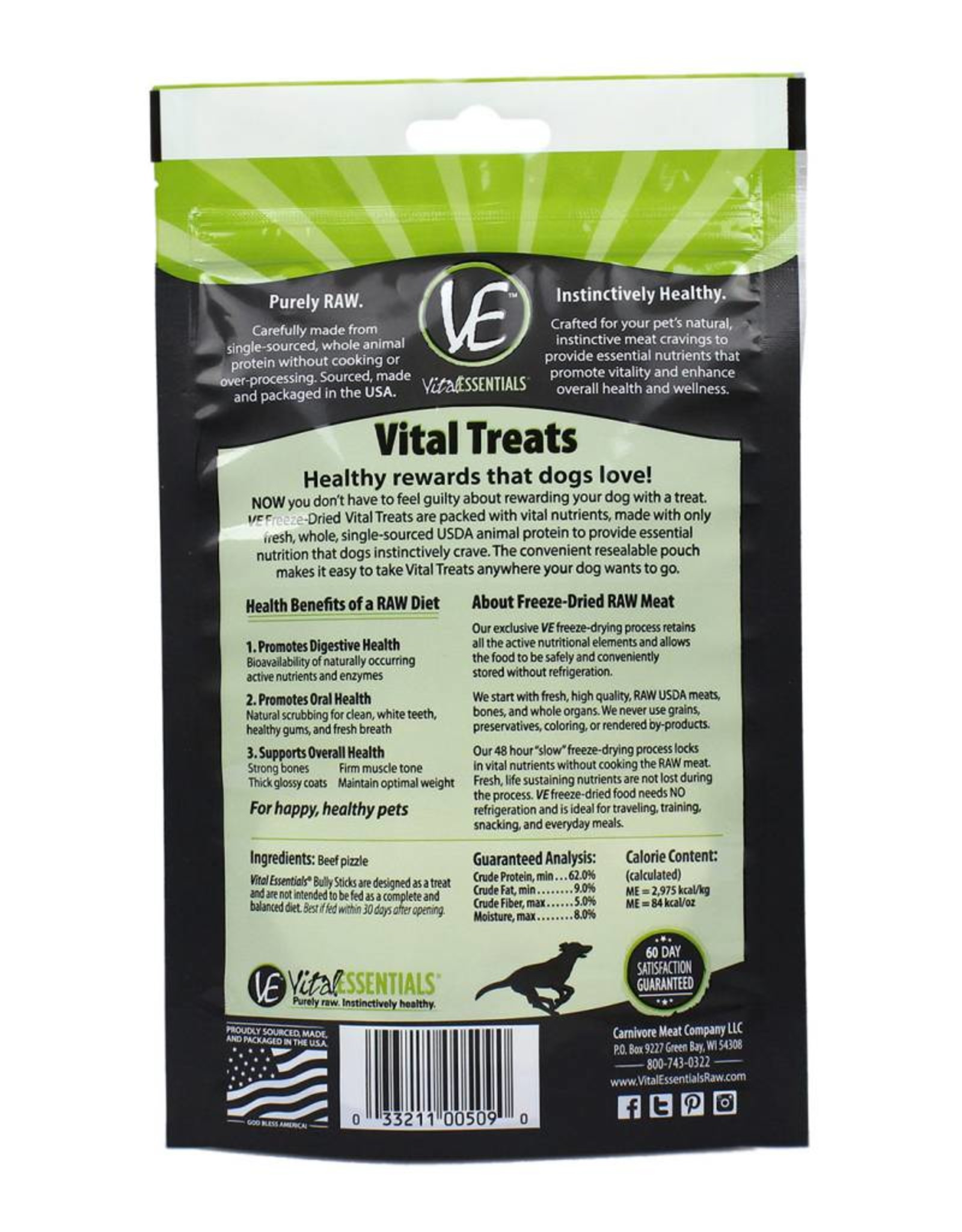 Vital Essentials Vital Essentials Dog Treat Bully Sticks 5pcs
