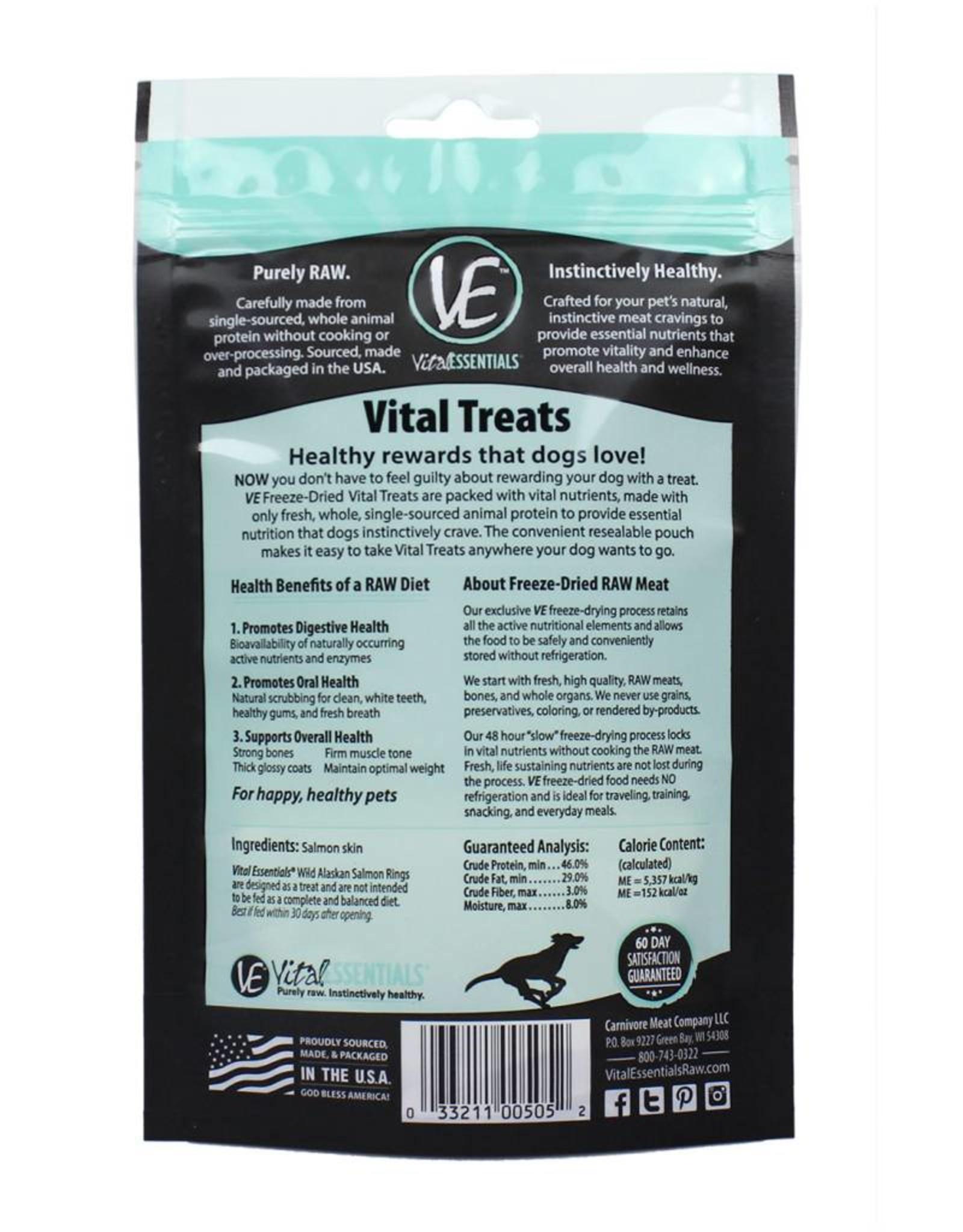 Vital Essentials Vital Essentials Dog Treat Wild Alaskan Salmon Rings 2.5 oz
