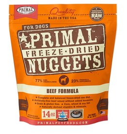 Primal Pet Food Primal Canine Freeze-Dried Raw Beef 14oz
