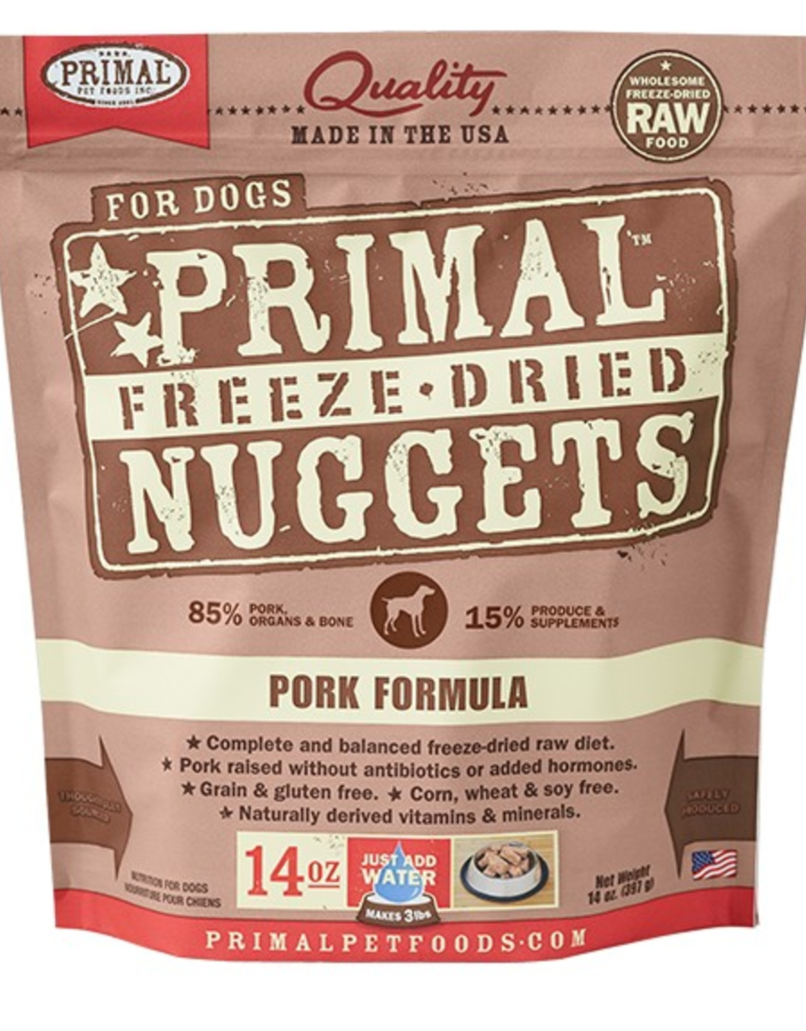 Primal Pet Food Primal Canine Freeze-Dried Raw Pork 14oz