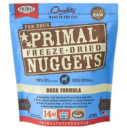 Primal Pet Food Primal Canine Freeze-Dried Raw Duck 14oz