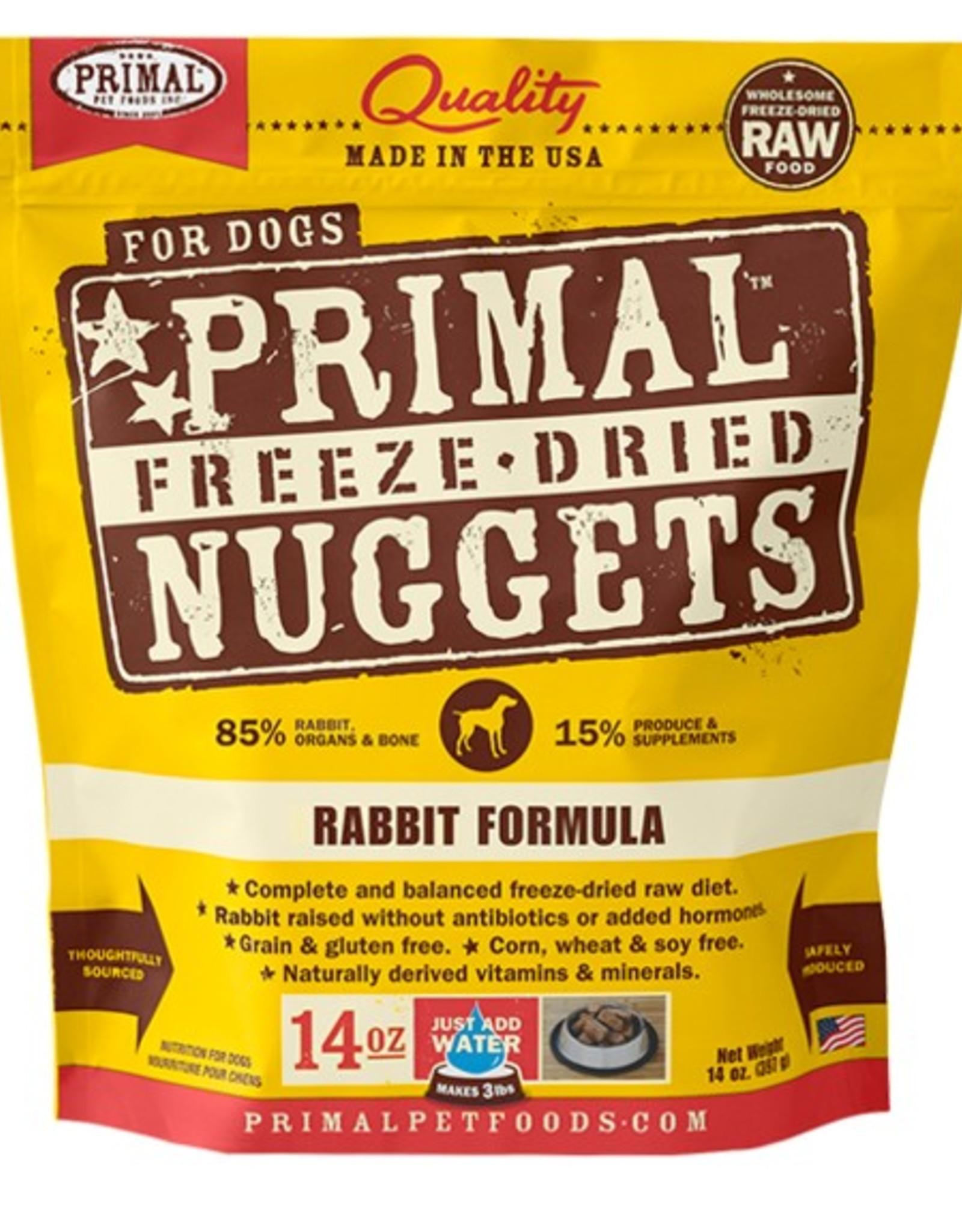 Primal Pet Food SALE - Primal Canine Freeze-Dried Raw Rabbit 14oz
