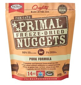 Primal Pet Food SALE - Primal Feline Freeze-Dried Raw Pork 14oz