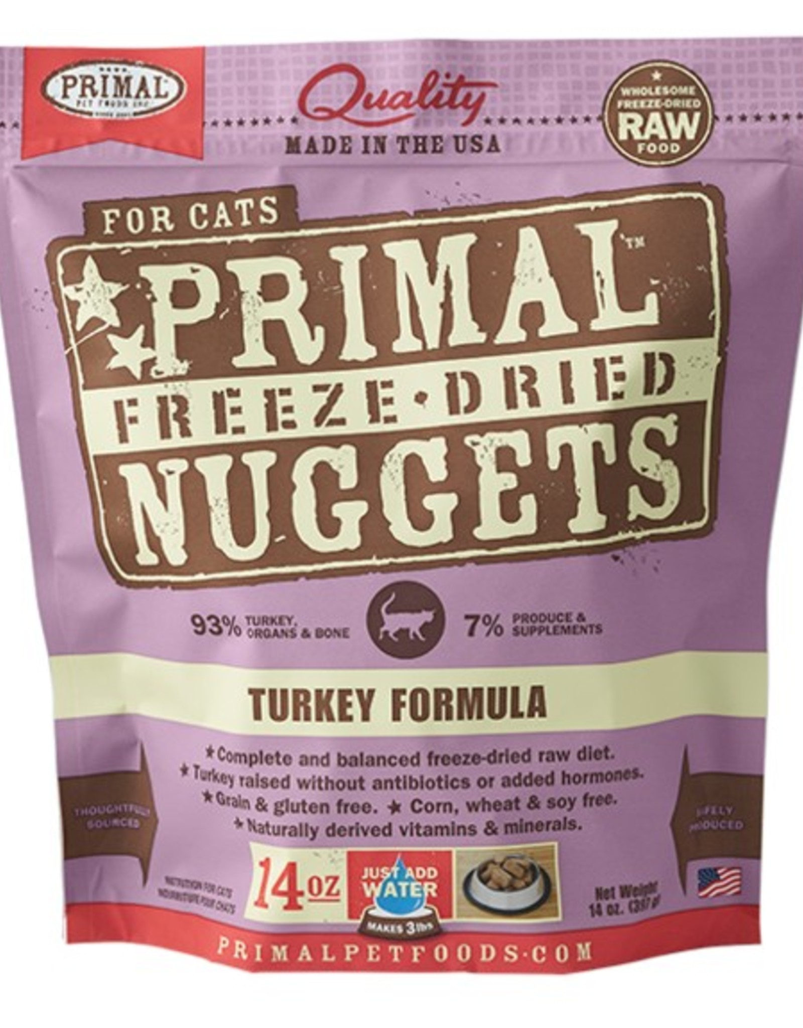 Primal Pet Food Primal Feline Freeze-Dried Raw Turkey 14oz