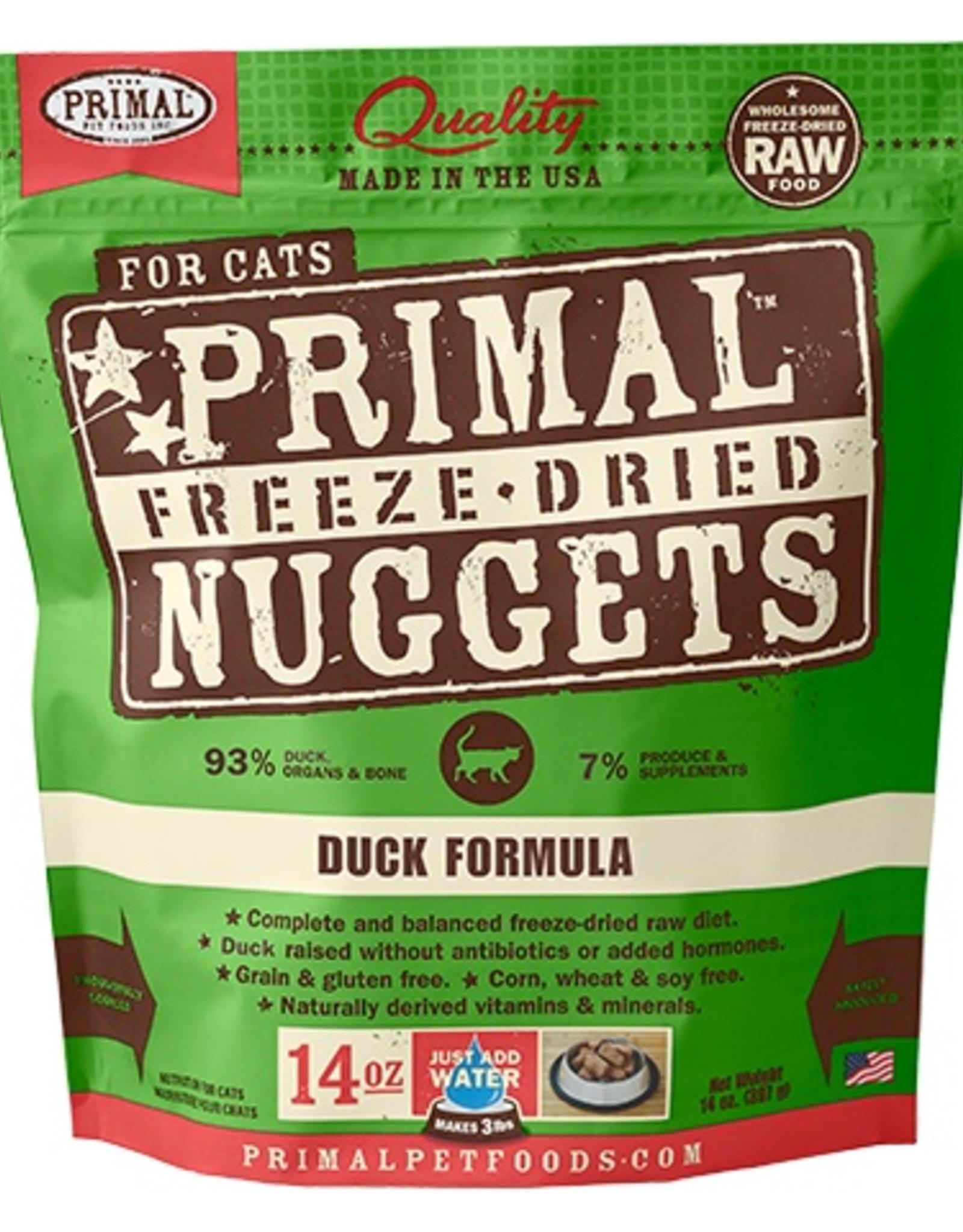 Primal Pet Food SALE - Primal Feline Freeze-Dried Raw Duck 14oz