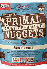 Primal Pet Food Primal Feline Freeze-Dried Raw Rabbit 14oz