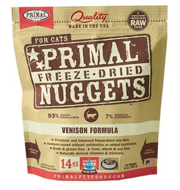 Primal Pet Food SALE - Primal Feline Freeze-Dried Raw Venison 14oz