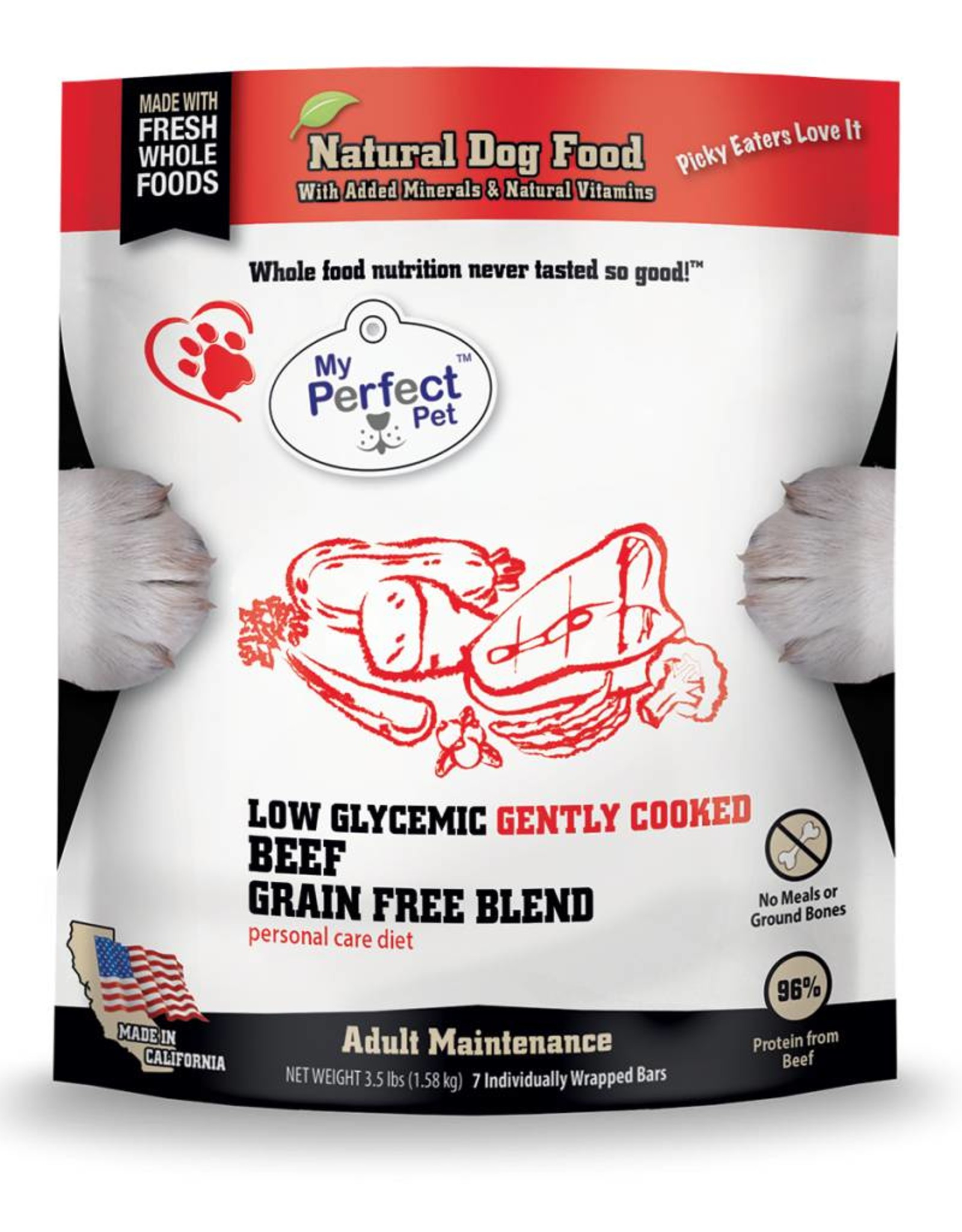 My Perfect Pet My Perfect Pet Low Glycemic Beef 3.5lb