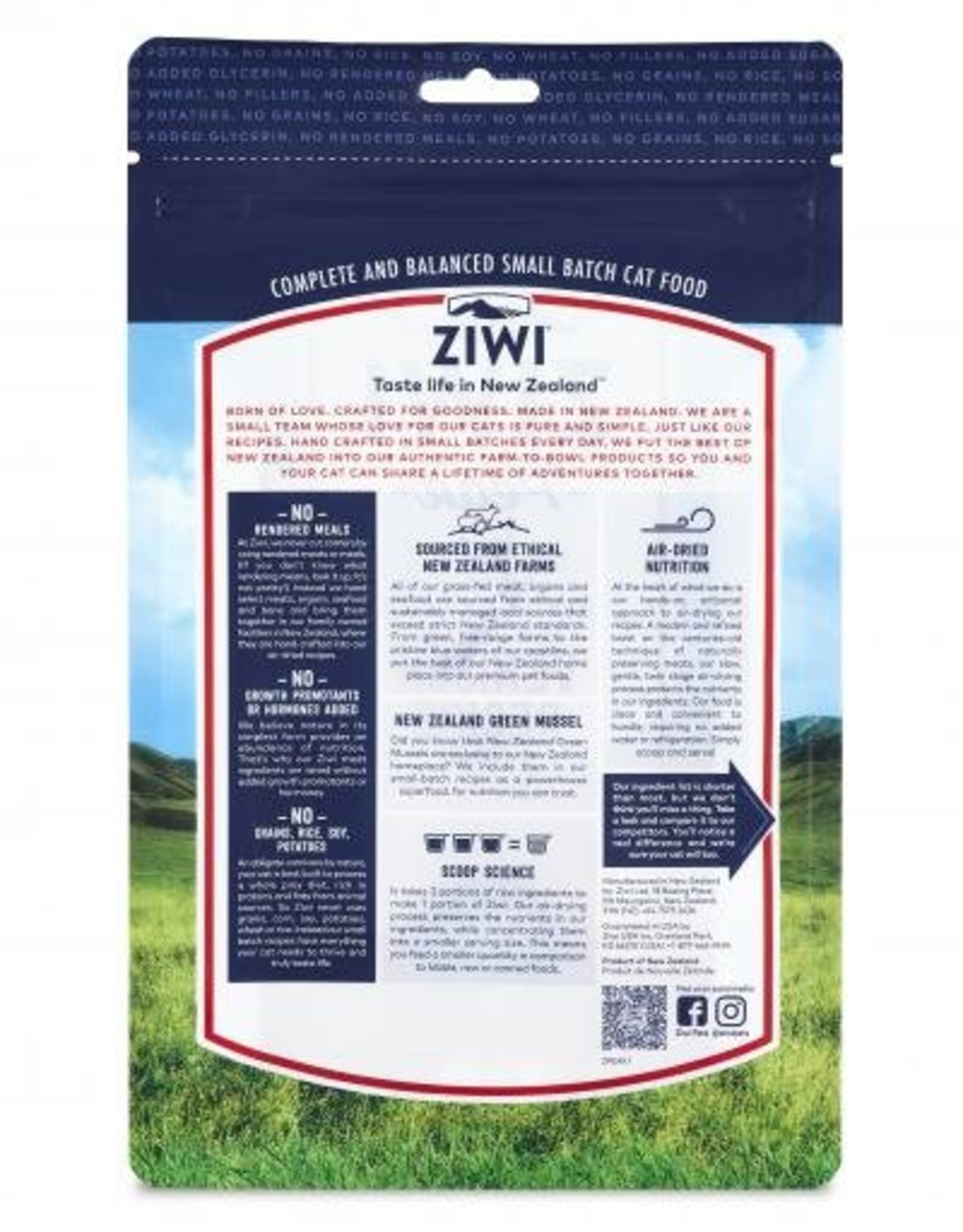 ZiwiPeak ZiwiPeak Air-Dried Venison for Cats 14oz