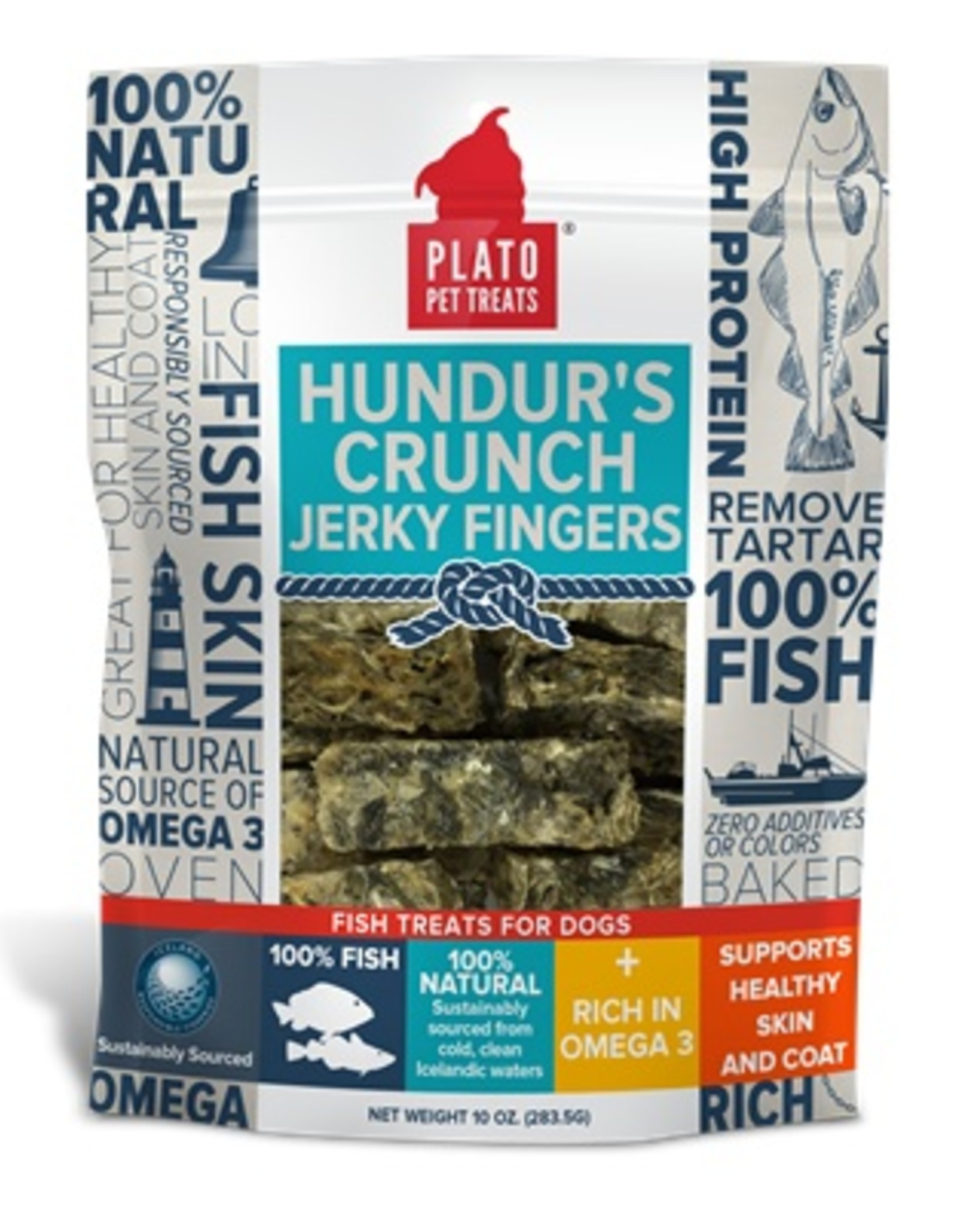 Plato Pet Treats Plato Hundur's Crunch Jerky Fingers