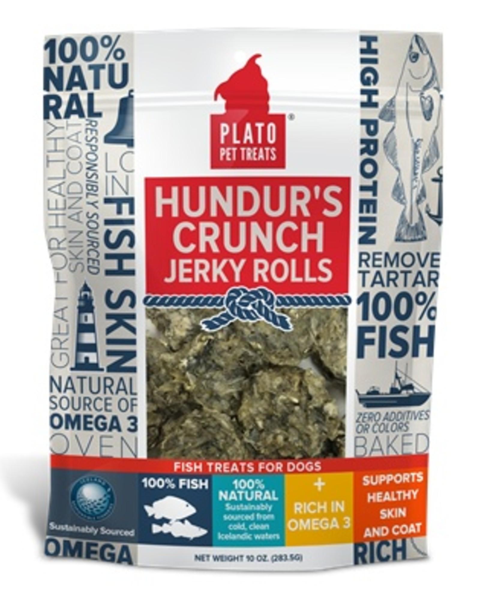 Plato Pet Treats Plato Hundur's Crunch Jerky Rolls