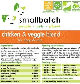 Smallbatch SALE - Smallbatch Chicken & Vegetable 2lb