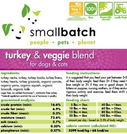 Smallbatch Smallbatch Turkey Vegetable Blend 2lb