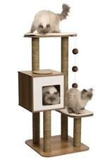 Hagen Vesper Cat Furniture V-High Base Walnut Tree