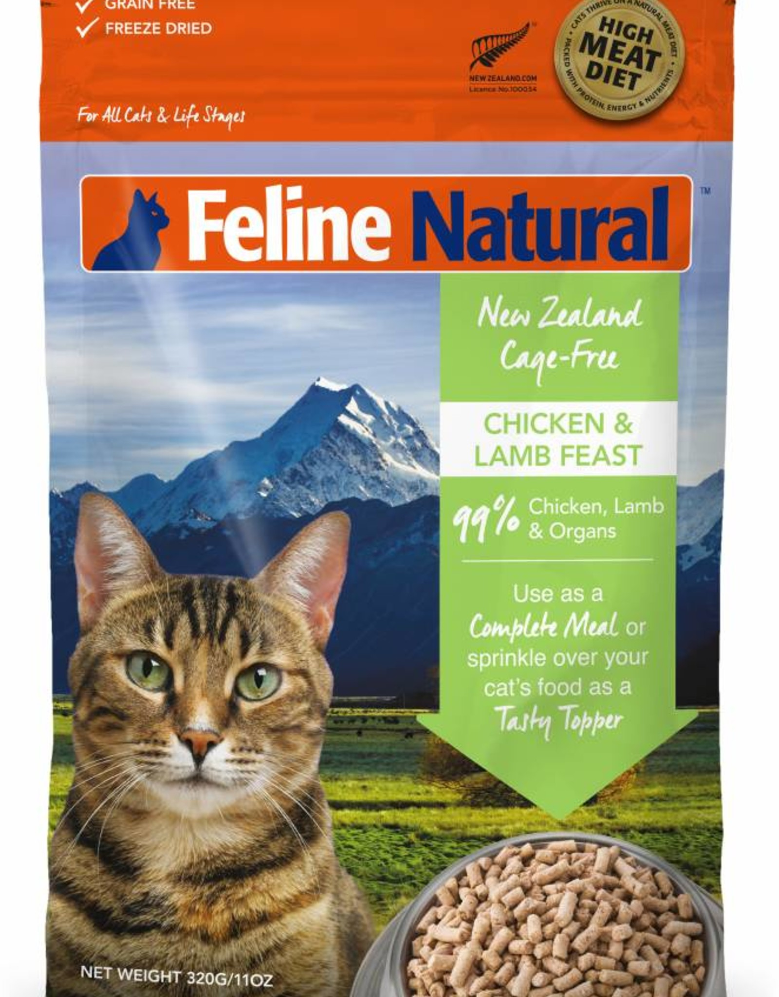 K9 Natural Feline Natural Freeze-Dried Chicken & Lamb Feast