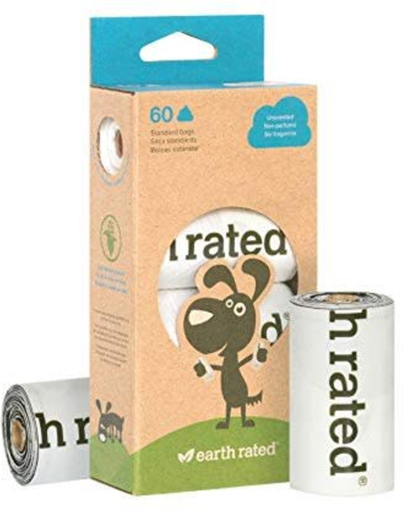 Earth Rated Earth Rated 60-Count, 4 rolls of Unscented Compostable Dog Waste Bags