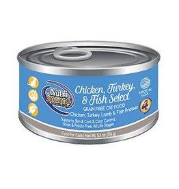 NutriSource NutriSource Chicken, Turkey & Fish Select Cat 5.5oz