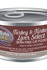 NutriSource NutriSource Turkey & Turkey Liver Select Cat 5.5oz