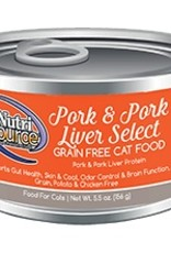 NutriSource NutriSource Pork & Pork Liver Select Cat 5.5oz