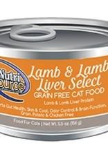 NutriSource NutriSource Lamb & Lamb Liver Select Cat 5.5oz