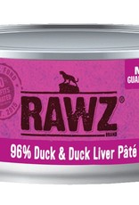 Rawz Rawz Cat 96% Duck & Duck Liver Pate 5.5oz