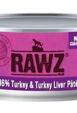 Rawz Rawz Cat 96% Turkey & Turkey Liver Pate