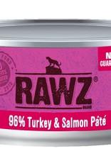 Rawz Rawz Cat 96% Turkey & Salmon Pate 5.5oz