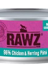 Rawz Rawz Cat 96% Chicken & Herring Pate 5.5oz