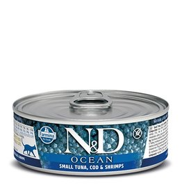 Farmina Farmina Cat N&D Ocean - Small Tuna, Cod & Shrimp 2.8oz