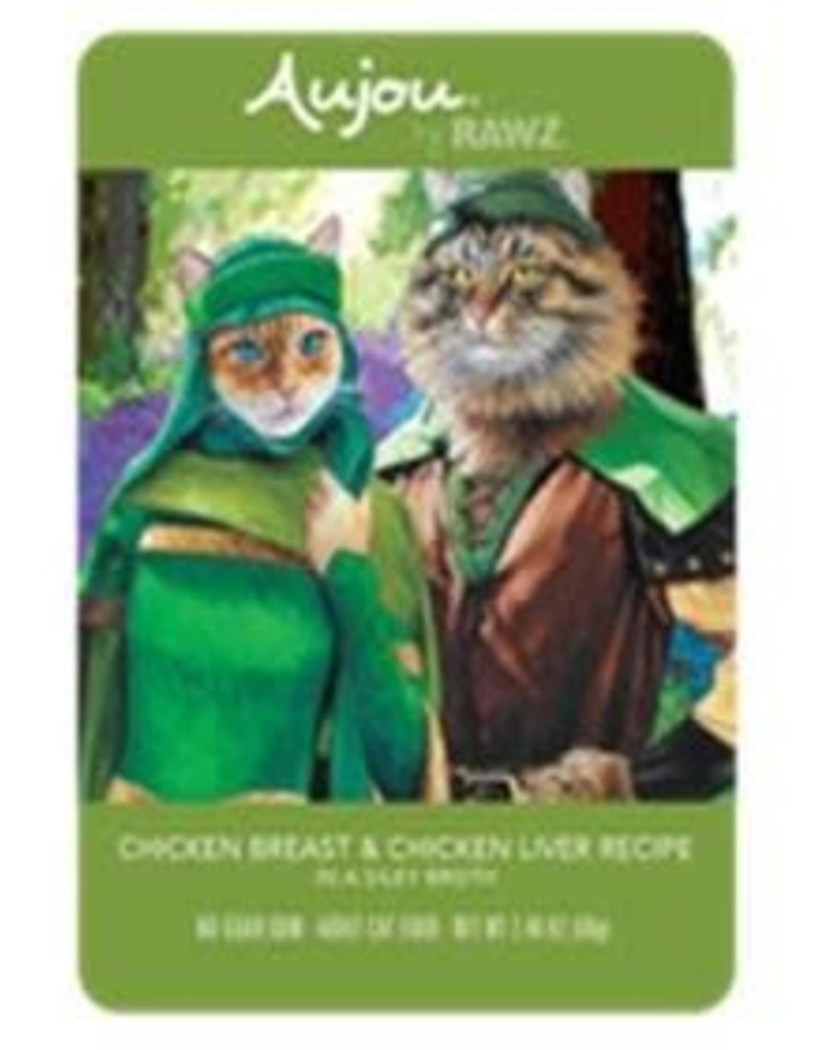 Rawz Rawz Cat AuJou Shredded Chicken Breast & Chicken Liver 2.46oz Pouch