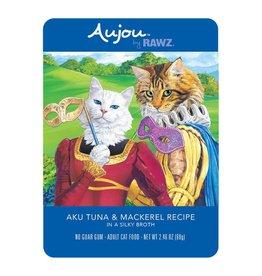 Rawz Rawz Cat AuJou Shredded Tuna & Mackerel 2.46oz Pouch