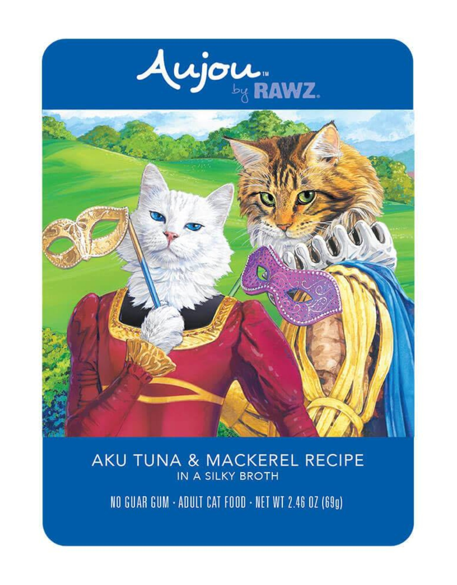 Rawz Rawz Cat AuJou Shredded Tuna & Mackerel 2.46oz Pouch