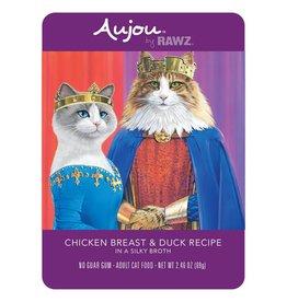 Rawz Rawz Cat AuJou Shredded Chicken Breast & Duck 2.46oz Pouch